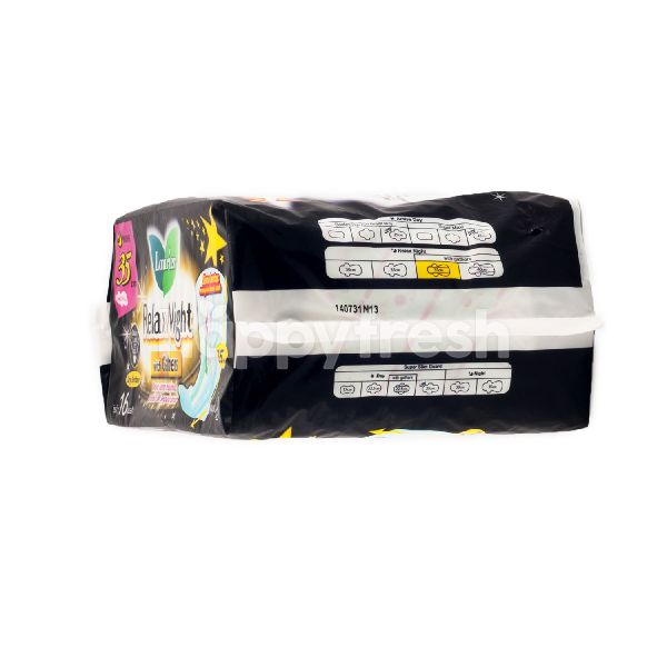 Product: Laurier Relax Night Wing Pads with Gathers 35cm - Image 2