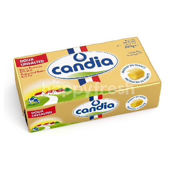 Product: Candia 82% Unsalted Butter 200 g - Image 1