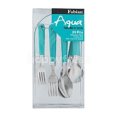 FABIAN Stainless Steel Cutlery Set With Holder (16 Pieces)
