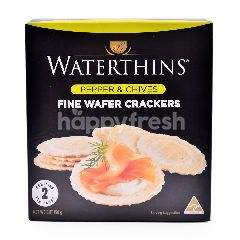 Waterthins Pepper & Chives Wafer Crackers