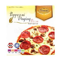 Tricious Beef Pepperoni Pizza