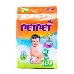 PETPET Baby Diapers Size XL (52 Pieces)