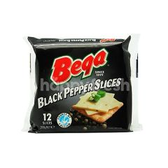 Bega Black Pepper Slices Cheese (12 Pieces)