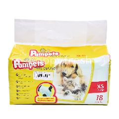 PAMPETS Pets Diaper X-Small (18 Pieces)