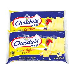 Fonterra Chesdale Cheddar Cheese Spread (24 Pieces) Twinpack