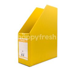 Bantex Jumbo Box File Folio 100mm Lemon