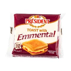 President Emmental Cheese Slices (10 Slices)