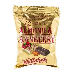 Whittaker's 12 Mini Size Almond & Cranberry Chocolate