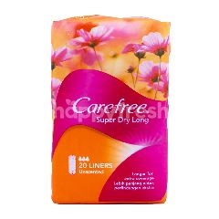 Carefree Super Dry Long Unscented Pantyliners