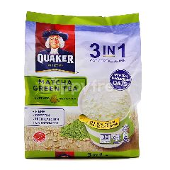Quaker 3 In 1 Oat Cereal Drink Matcha Green Tea Flavour (12 Pieces)