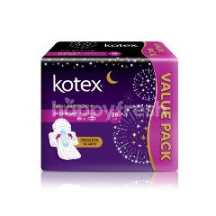 Kotex Value Pack Soft & Smooth Overnight 28cm Wing