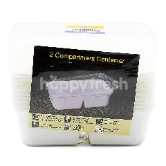 Dolphin 2 Compartment Container (10 Container)