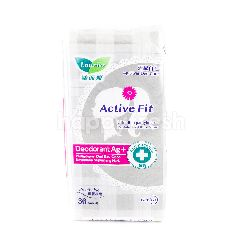 Laurier Active Fit Pantyliners Deodorant Ag+ & Antbacterial