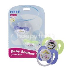 FIFFY 98-957 Baby Soother Twin Pack (2 Pieces)
