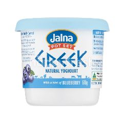 Jalna Greek With A Hint Of Blueberry Yoghurt 170G