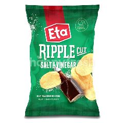 ETA Spuds Ripple Cut Potato Chips Salt & Vinegar 150G