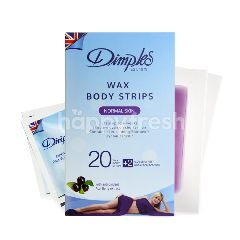Dimples Wax Body Strips - Normal Skin 20's