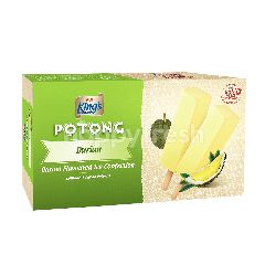 King's Potong Durian Flavoured Ice Cream 6pcsx60ml