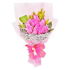 Imported Pink Rose Bouquet