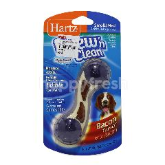 Hartz Bacon Flavoured Bounce & Bite Durable Chew Toy With Edible Center (S)