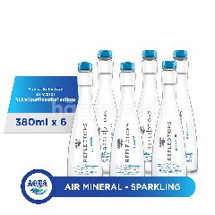 Aqua Reflections Sparkling Air Mineral 380ml 6-Pack