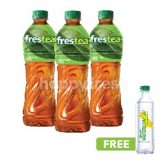 Frestea The Hijau 500ml Triplepack dan Gratis Sprite Waterlymon 250ml