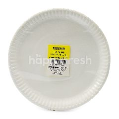 Muster Traders 9 Inch White Paper Plate 20 Pieces