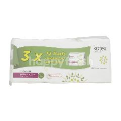 Kotex Natural Care Odor Care Overnight Wing