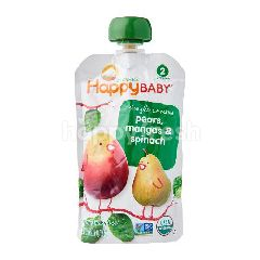 Happybaby Stage 2 - Spinach/Mango/Pear (99g)