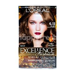 L'Oreal Excellence Fashion Pewarna Rambut Warna Golden Nude Brown 6.13