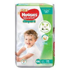 Huggies Natural Soft Super Jumbo Diapers XXL34