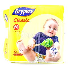 Drypers Classic Diapers M72
