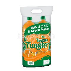 Tropicana Twister Orange Pulp Fruit Drink Bundle 2 x 1.5L