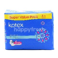 Kotex Super Value Pack Soft & Smooth Maxi Wing Pads (3 Packs x 16 Pads)
