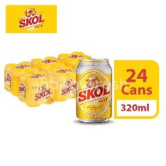 Skol Lager Beer Can (320ml x 6 x 4)