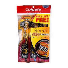 Colgate Slim Soft Gold Charcoal Ultra Soft Tooth Brush (3 Pieces)