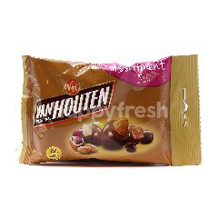 Van Houten Whole Roasted Almonds, Hazelnuts And Raisins Coated With Milk Chocolate.