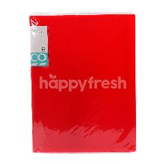 Tesco A4 Clear Book (Red)