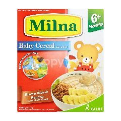 Milna Instant Powdered Supplement Food For Baby Brown Rice And Banana