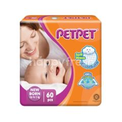 PETPET Baby Soft Touch Mega Pack New Born (60 Pieces)