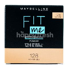 Maybelline Fit Me Matte + Poreless Compact Powder - 128 Warm Nude