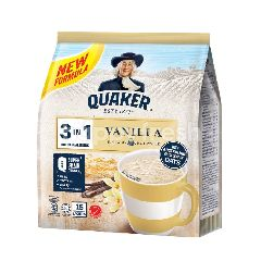 Quaker 3 In 1 Vanilla Flavoured Oat Cereal Drink (15 Sachets)