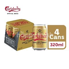 Carlsberg Special Brew Strong Lager Beer Can (320ml x 4)