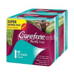 Carefree Healthy Fresh Super Dry Pantyliners (2 x 50's)
