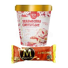 Wall's Selection Strawberry Cheesecake dan Magnum Almond