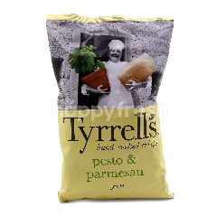 Tyrrell's Pesto & Parmesan Flavoured Hand-Cooked Chips