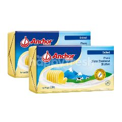 Anchor Salted Pure New Zealand Butter Twinpack 227g