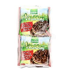 GULLON Vitalday Dark Chocolate Covered Corn Cakes (4 Pieces)