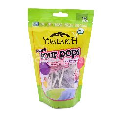 YUMEARTH Organic Sour Pop Strawberry Smash Candies (14 Pops)