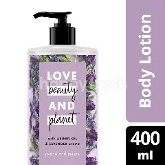 Love Beauty And Planet Losion Tubuh Soothe & Serene Minyak Argan & Aroma Lavender